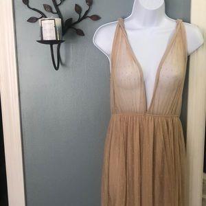 Mesh nude Beautiful dress